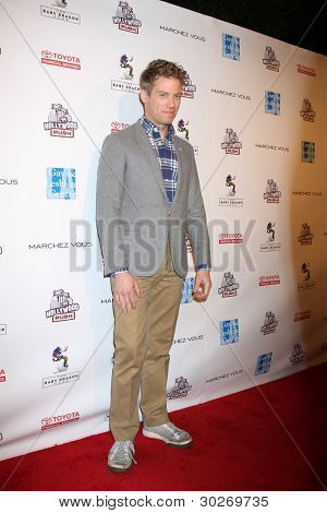 LOS ANGELES - FEB 19:  Barrett Foa arrives at the 2nd Annual Hollywood Rush at the Wilshire Ebell on February 19, 2012 in Los Angeles, CA.