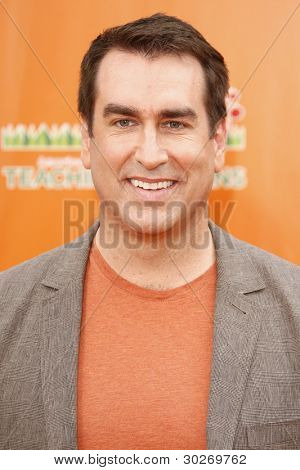 LOS ANGELES, CA - FEB 19: Rob Riggle at the 'Dr. Suess' The Lorax' premiere at Universal Studios Hollywood on February 19, 2012 in Los Angeles, California