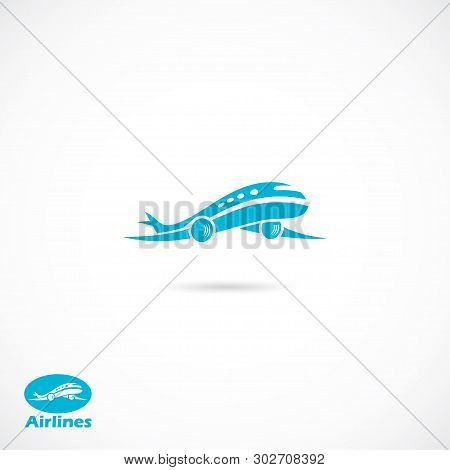 Airplane - Isolated Vector Illustration - Vector