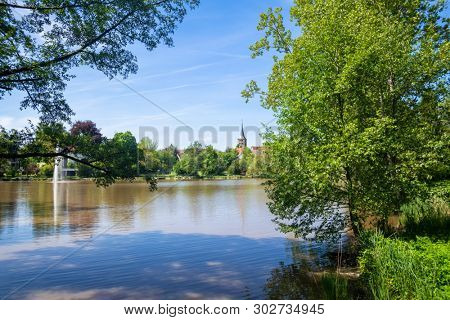 An image of the cloister lake in Sindelfingen Germany