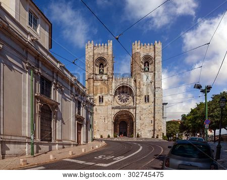 Lisbon Cathedral or Se de Lisboa aka Santa Maria Maior Church, Portugal. Main church of Lisbon, and the only one in Romanesque style in the city
