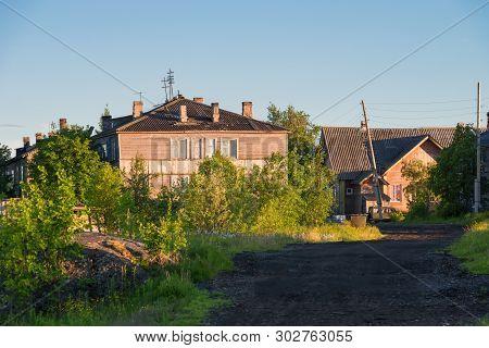 The Village Of Rabocheostrovsk, Kem.  White Sea, Kemsky District, Republic Of Karelia, Russia