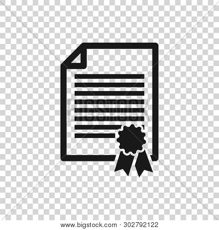 Grey Certificate Template Icon Isolated On Transparent Background. Degree Icon. Achievement, Award,