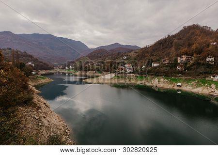 River Neretva In Bosnia, Mindfulness Landscape, Still Calming Nature Background - Image