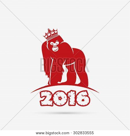 2016. Year Of The Monkey - Vector Illustration - Vector