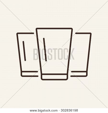 Shots Line Icon. Glass, Strong Drink, Tequila, Vodka. Bar Concept. Vector Illustration Can Be Used F