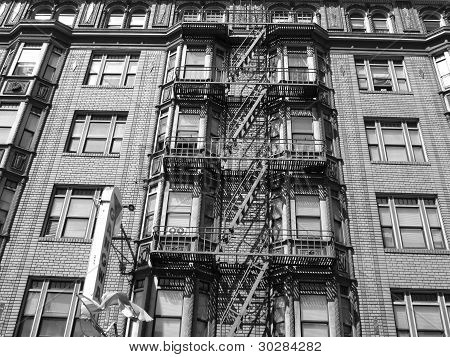 old NewYork building fire-escape