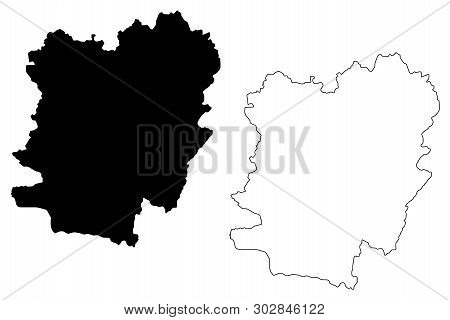 Caras-severin County (administrative Divisions Of Romania, Vest Development Region) Map Vector Illus