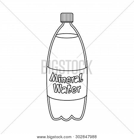 Vector Illustration Of Water And Mineral Symbol. Set Of Water And Salty Stock Symbol For Web.
