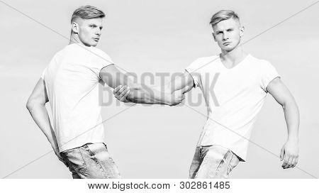 Brotherhood Concept. Benefits Of Having Twin Brother. Benefits And Drawbacks Of Having Identical Twi