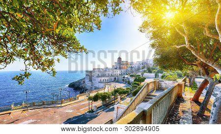 Beautiful Coastal Town In  Santa Cesarea Terme In Salento Region Of Italy. Villa Sticchi In Salento