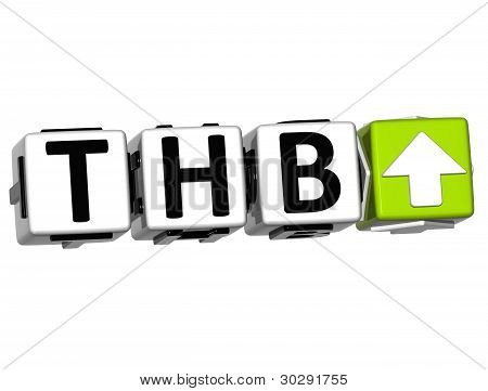 Currency Thb Rate Concept Symbol Button On White Background