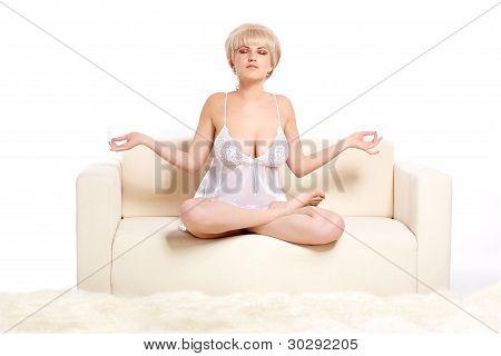Girl In Lotus Pose