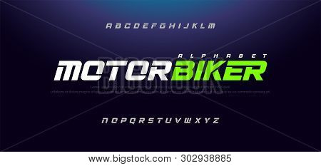 Sport Modern Italic Alphabet Font. Typography Urban Style Fonts For Technology, Sport, Motorcycle, R