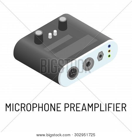 Microphone Preamplifier Electronic Device Signal Processing Isolated Object