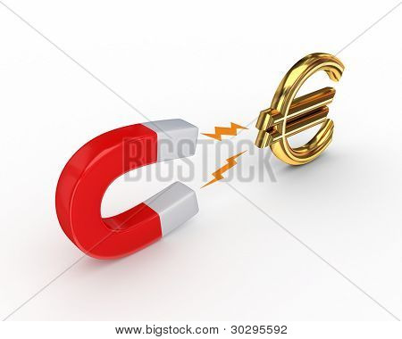 Magnet and euro sign.