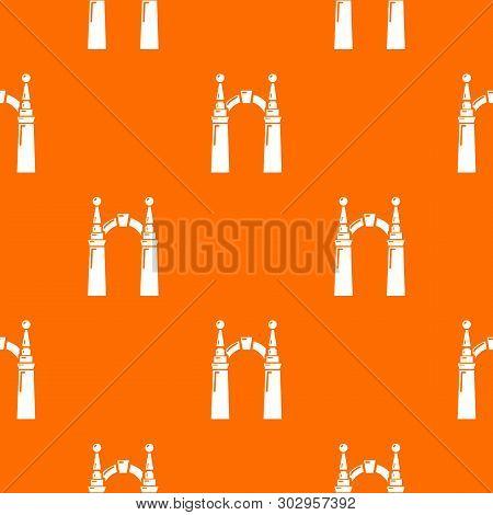 Archway Elf Pattern Vector Orange For Any Web Design Best