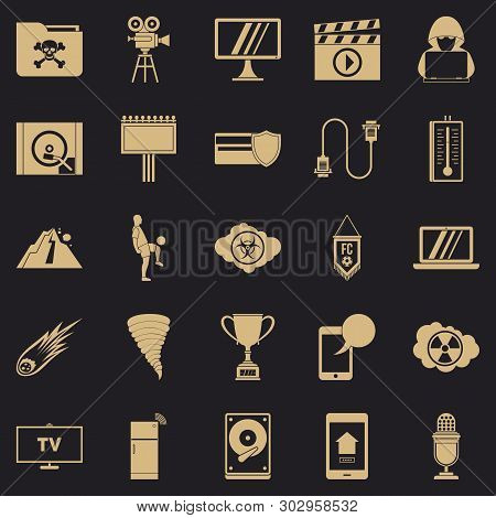 Televisor Icons Set. Simple Set Of 25 Televisor Vector Icons For Web For Any Design