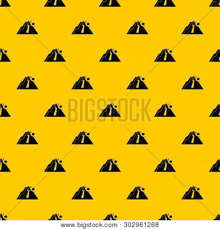 Rockfall Pattern Seamless Vector Repeat Geometric Yellow For Any Design