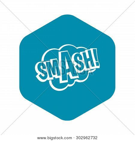 Smash, Comic Book Bubble Text Icon. Simple Illustration Of Smash, Comic Book Bubble Text Vector Icon