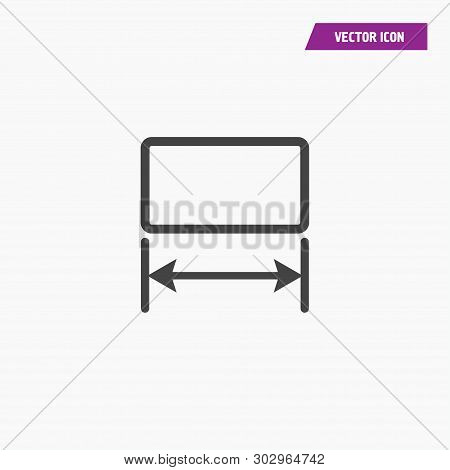 Image Resize, Enlarge Icon With Arrows. Illustration Isolated Vector Sign Symbol