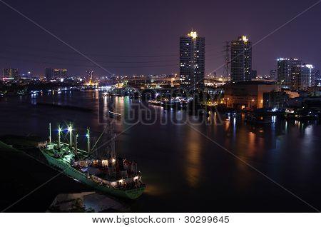Night City at Bangkok River View
