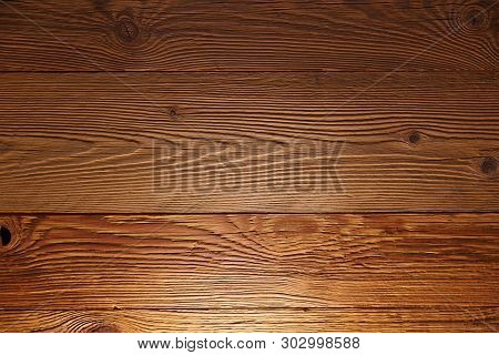Illuminated Wooden Wall In A House. Torfhaus, Germany