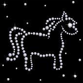Diamond horse poster