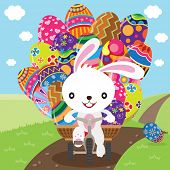 Easter Bunny Deliver Painted Eggs poster
