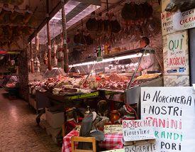 Florence, Tuscany/italy- April 6, 2018: Interior Of La Norcineria Shop Near Plaza Del Mercato Centra