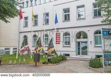 Puck, Poland - September 20, 2020: Puck City Hall.