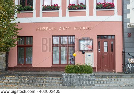 Puck, Poland - September 20, 2020: Museum Of The Puck Land At Market Square In Puck.
