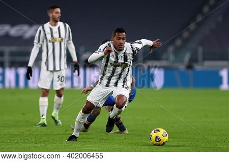 Torino, 03th January 2021. Alex Sandro Of Juventus Fc  During The Serie A Match Between Juventus Fc