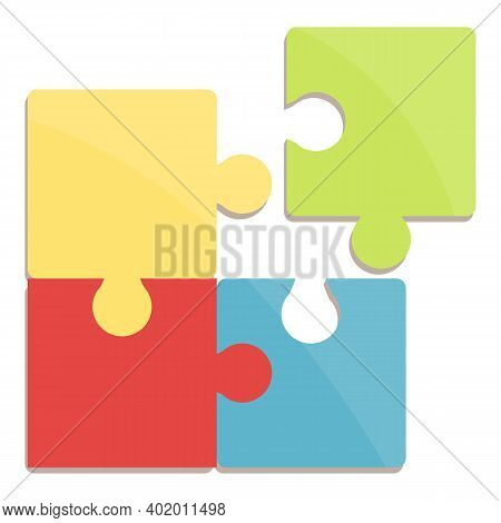Problem Solving Puzzle Icon. Cartoon Of Problem Solving Puzzle Vector Icon For Web Design Isolated O