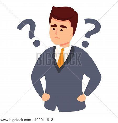 Businessman Problem Solving Icon. Cartoon Of Businessman Problem Solving Vector Icon For Web Design