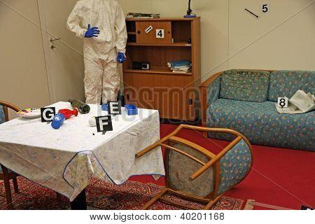 Crime Scene Inside A House