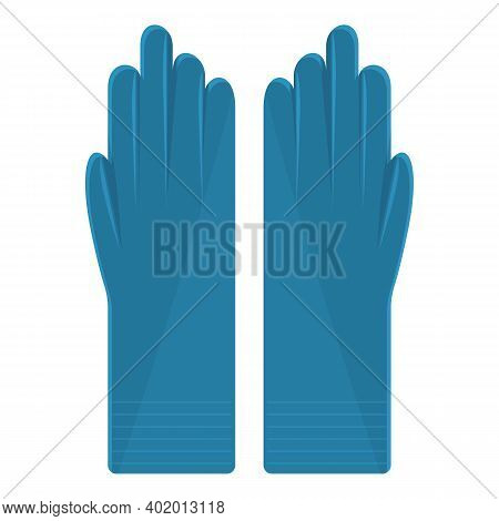Latex Medical Gloves Icon. Cartoon Of Latex Medical Gloves Vector Icon For Web Design Isolated On Wh