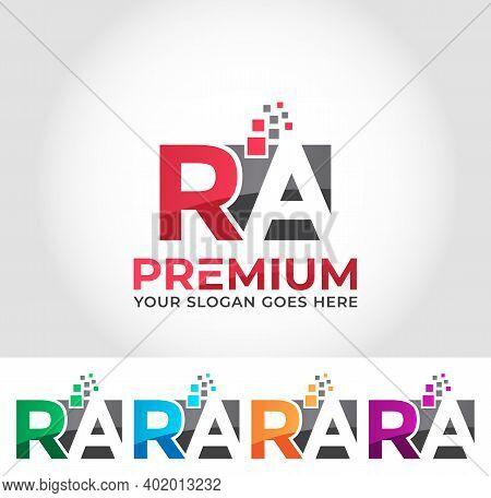 Ra Alphabet Business Logo Design Company Concept
