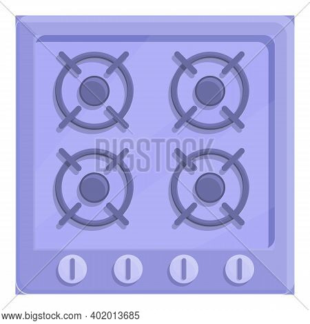 Fire Gas Stove Icon. Cartoon Of Fire Gas Stove Vector Icon For Web Design Isolated On White Backgrou
