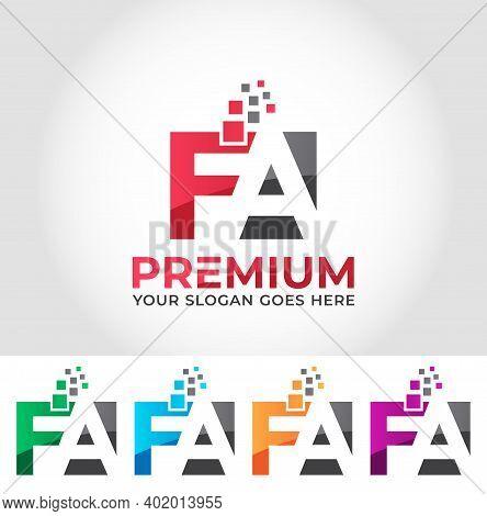 Fa Alphabet Business Logo Design Company Concept