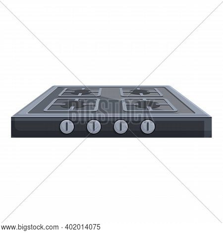 Burning Gas Stove Appliance Icon. Cartoon Of Burning Gas Stove Appliance Vector Icon For Web Design