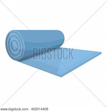 Rug Yoga Mat Icon. Cartoon Of Rug Yoga Mat Vector Icon For Web Design Isolated On White Background