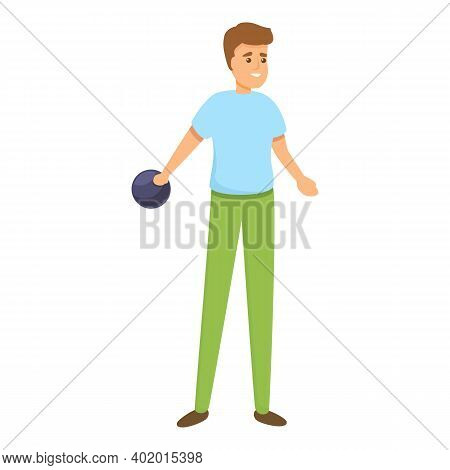 Strike Playing Bowling Icon. Cartoon Of Strike Playing Bowling Vector Icon For Web Design Isolated O