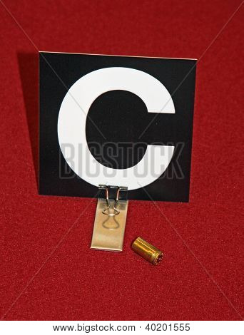 Case Of A Gun With The Police Identification Card