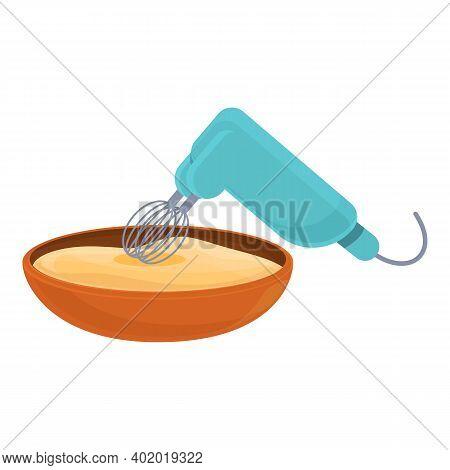 Dough Mixer Icon. Cartoon Of Dough Mixer Vector Icon For Web Design Isolated On White Background
