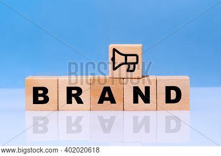 Adding Megaphone Symbol As Build Brand Awareness Concept