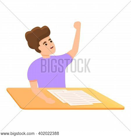 Teaching School Test Icon. Cartoon Of Teaching School Test Vector Icon For Web Design Isolated On Wh