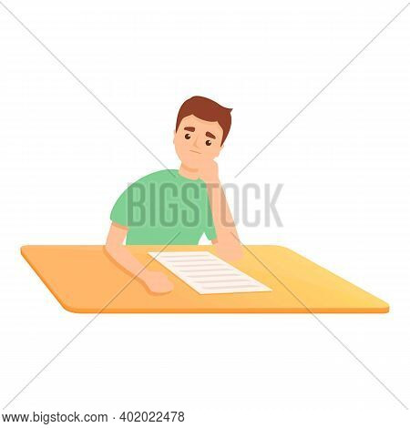 School Test Progress Icon. Cartoon Of School Test Progress Vector Icon For Web Design Isolated On Wh