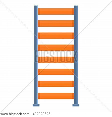 Gym Wall Stairs Icon. Cartoon Of Gym Wall Stairs Vector Icon For Web Design Isolated On White Backgr