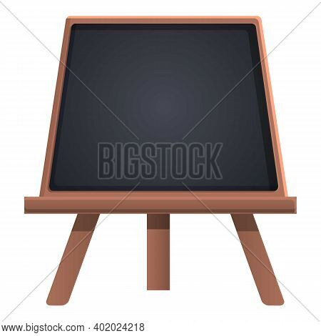Stand Chalkboard Icon. Cartoon Of Stand Chalkboard Vector Icon For Web Design Isolated On White Back